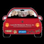 LWR Weim Car Magnet