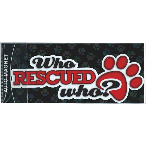 Who RESCUED Who? Pawprint Magnet